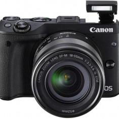 Kit aparat foto digital Canon EOS M3 (cu obiectiv de 18-55 S) - DSLR Canon, Kit (cu obiectiv), Peste 16 Mpx, Full HD