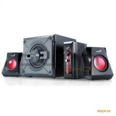 Genius Boxe 2.1 Genius 'SW-G2.1 1250', RMS: 38W (9Wx2 + 20Wx1), black, control box '31730980100' - Boxe PC