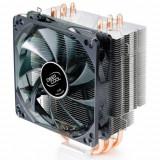 Cooler DeepCool CPU, universal, soc. LGA2011/1366/115x/775 & FMx/AMx/940/939/754, Al+Cu, 4x heatpipe