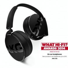 AKG Casti On-Ear AKG Y 50, Cu fir, Mufa 3, 5mm, Active Noise Cancelling
