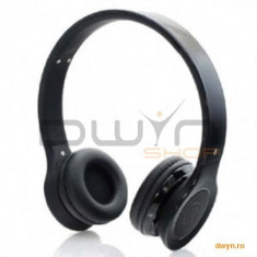 Casti cu microforn bluetooth stereo Gembird Berlin, 'BHP-BER-BK', black, Casti On Ear, Active Noise Cancelling