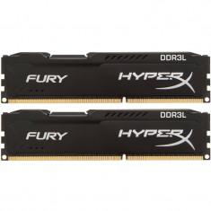 Memorie HyperX Fury Black 16GB DDR3L 1600MHz CL10 Dual Channel Kit 1.35V