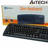 Tastatura A4-Tech EVO Stilo, standard, PS/2, neagra, US, Fara fir