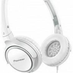 Căști Pioneer SE-MJ512-W, alb, Casti On Ear, Cu fir, Mufa 3, 5mm, Active Noise Cancelling