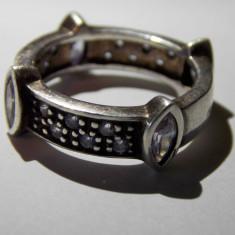 Inel argint cu zirconii - 691