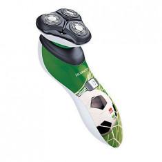 Aparat de ras Remington HyperFlex Footballer XR1340, 3 capete rotative flexibile, Acumulator Litiu, 60 minute autonomie, Numar dispozitive taiere: 3