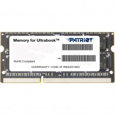 Memorie notebook Patriot 4GB DDR3 1600MHz CL11 - Memorie RAM laptop
