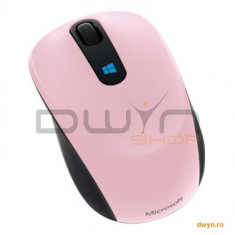 Mouse Microsoft Sculpt Mobile, Wireless, Win7/Win8/Win RT, roz, 43U-00019