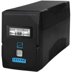 Lestar UPS SIN-630E 600VA/360W Sinus LCD GF 4xIEC USB RJ 11 BLACK