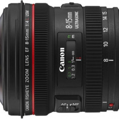 Obiectiv Canon 8-15/F4.0 USM EF-L Fisheye - Obiectiv DSLR Canon, Canon - EF/EF-S