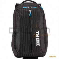 Thule Nylon Backpack for 17 Apple MacBook Pro, with Safe-zone, Black, TCBP317K - Geanta laptop THULE, Rucsac, Nailon, Negru
