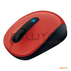 Mouse Microsoft Sculpt Mobile, Wireless, Win7/Win8/Win RT, rosu, 43U-00025