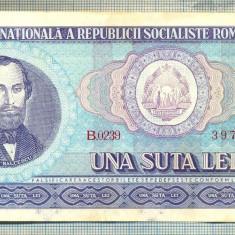 A1320 BANCNOTA-ROMANIA(RSR)- 100 LEI- 1966 -SERIA397785 -starea care se vede - Bancnota romaneasca