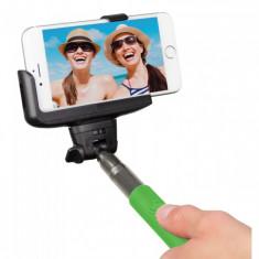Selfie stick Kitvision extensibil cu control actionare shutter pe bluetooth si suport de telefon, Verde