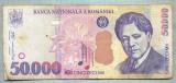 A1336 BANCNOTA-ROMANIA- 50000 LEI-2000-SERIA 005D- ENESCU -starea care se vede