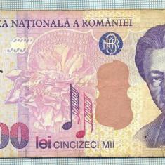 A1336 BANCNOTA-ROMANIA- 50000 LEI-2000-SERIA 005D- ENESCU -starea care se vede - Bancnota romaneasca