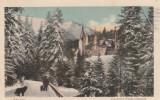 SINAIA , CASTELUL PELES  (IARNA ) ED. NICU BUDUROI , CIRCULATA 1923, Printata