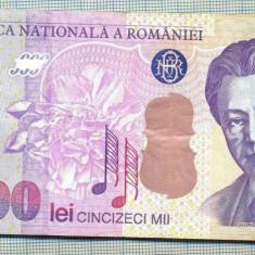 A1337 BANCNOTA-ROMANIA- 50000 LEI-2000-SERIA 002B- ENESCU -starea care se vede - Bancnota romaneasca
