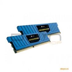 Corsair DDR3 8GB 1600MHz, KIT 2x4GB, 9-9-9-24, radiator Blue Vengeance LP, dual channel, 1.5V - Memorie RAM