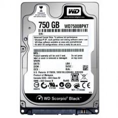 WD HDD Mobile Black (2.5', 750GB, 16MB, 7200 RPM, SATA) - Hard Disk Western Digital