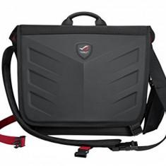 Geanta Notebook Asus 2-in-1 ROG Messenger, compatibila cu notebook pana la 15.6, culoare neagra, Dimensiuni: 44x105x36cm (LxWxH) - Geanta laptop Asus, Geanta de umar, Nailon, Negru