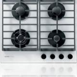 gorenje Plita incorporabila Gorenje GKTG6SY2W, Gaz, 60 cm, 4 arzatoare, Timer, Fonta, Wok, Sticla alba