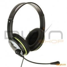 Genius Casti Genius 'HS-400A' + microfon, control volum, Green '31710169100' - Casti PC