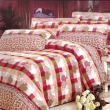 Lenjerie pat 2 persoane - Gradina Bunicii (4 piese)