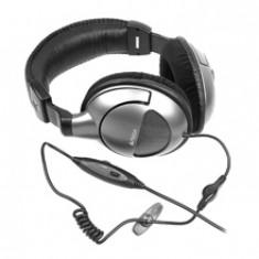 Casti cu microfon pentru jocuri A4-Tech HS-800, Casti On Ear, Cu fir, Mufa 3, 5mm, Active Noise Cancelling