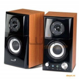 Boxe 2.0 Genius 'SP-HF500A', RMS: 14W (7Wx2), black&cherry wood, jack casti, line in '31730905100' - Boxe PC