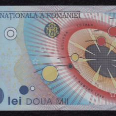 ROMANIA, 2000 LEI 1999, VF; seria 006C0651653 - Bancnota romaneasca