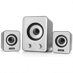 Sistem audio 2.1 Logic LS-20 White