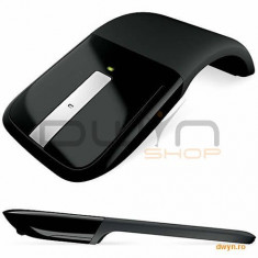 Mouse Microsoft ARC Touch, Wireless, Blue Track, USB, Win, negru, scroll metalic , RVF-00056