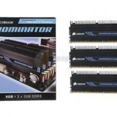Memorii Corsair Dominator 3x2GB 1600 MHz CL 7-7-7-20 Stare perfecta - Memorie RAM