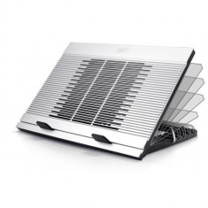Deepcool Stand notebook DeepCool 17' - aluminiu & plastic, fan, 4* USB, dimensiuni 380X279X34mm, dimensiuni F - Masa Laptop