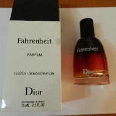 PARFUM TESTER FAHRENHEIT - 75 ML -SUPER PRET, SUPER CALITATE! - Parfum barbati Christian Dior, Altul