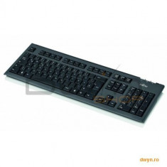 KB410 value keyboard USB black, USA layout on 105 keys, 1, 8 m cable. - Tastatura Fujitsu, Cu fir