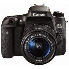 Aparat foto D-SLR Canon EOS 750D Negru + obiectiv EF-S 18-55mm f/3.5-5.6 IS STM, Kit (cu obiectiv), Peste 16 Mpx, Full HD