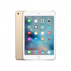 Apple Tableta Apple iPad mini 4 128GB 4G Gold - Tableta iPad 4 Apple, Auriu, Wi-Fi + 4G