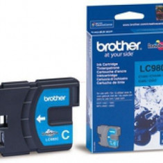 Brother Cerneala Brother LC980C cyan | 260pgs | DCP145C/ DCP165C/ MFC250C/MFC290C - Cerneala imprimanta