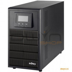 Njoy UPS Online Dubla Conversie 3000VA, Tower, ATEN 3000L, 4 x Schuko back-up sockets, LCD, USB/RS23
