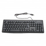 Tastatura A4Tech G300-USB, Can-Be-Washed Gaming, USB (Black) (US layout), Cu fir