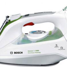 Fier de calcat Bosch TDI 902431E, Talpa ceramica, 2400 W, 0.40 l, 2.5 m, Alb/Verde, 400 ml