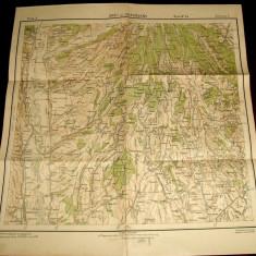 1935 Harta militara URSI si DRAGASANI, judetul Olt, format 50x47 cm