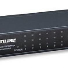 Switch Intellinet 8x10/100 metal, dimensiune desktop