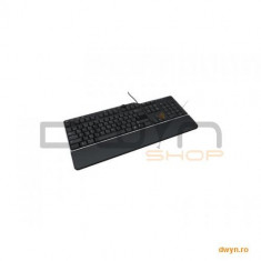 DELL US/Euro (QWERTY) Dell KB-522 Wired Business Multimedia USB Keyboard Black - Tastatura Dell, Cu fir