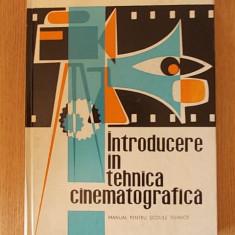 INTRODUCERE IN TEHNICA CINEMATOGRAFICA- manual pentru scoli tehnice-Popescu - Carte Cinematografie