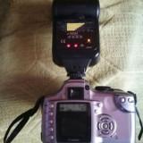 Dslr Canon EOS 300D + obiectiv 18-55mm + bliz ttl, perfect pentru un incepator, Kit (cu obiectiv), Sub 8 Mpx