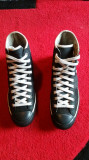 Converse Lady All Star originali,high top,piele naturala,nr.37,5., 37.5, Negru