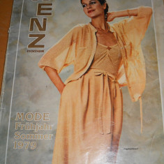 CATALOG MODA VINTAGE ANUL 1979 WENZ PFORZHEIM - IN LIMBA GERMANA - Revista moda